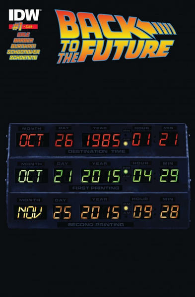 BACK TO THE FUTURE #1 (OF 5) 2ND PTG