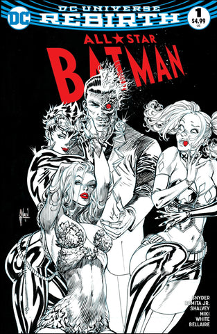 ALL STAR BATMAN #1 COMICXPOSURE GUILLEM MARCH B&W  EXCLUSIVE