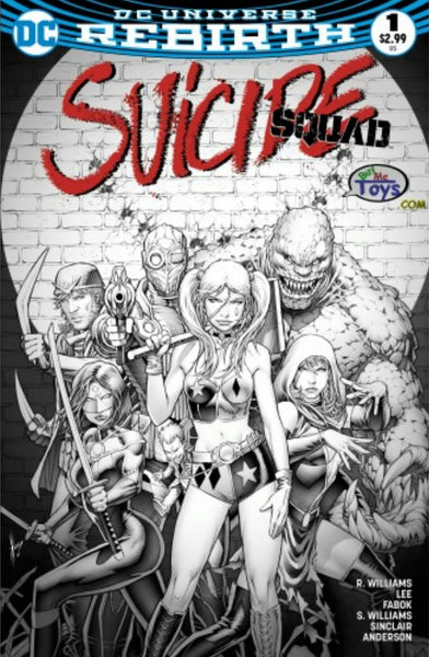 SUICIDE SQUAD VOL 4 #1 BUY ME TOYS DALE KEOWN B&W VARIANT