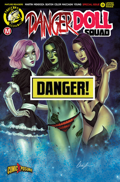 DANGER DOLL SQUAD #0 COMICXPOSURE ELIAS CHATZOUDIS RISQUE VARIANT