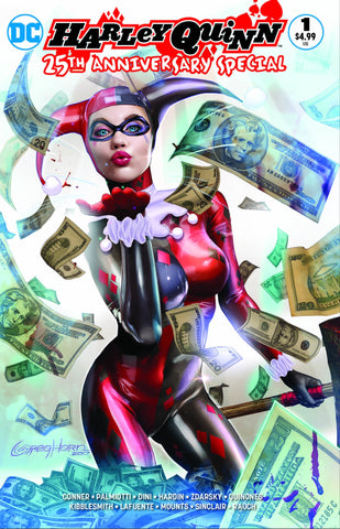 HARLEY QUINN 25TH ANNIVERSARY SPECIAL #1 GREG HORN COMICXPOSURE EXCLUSIVE 2 PACK