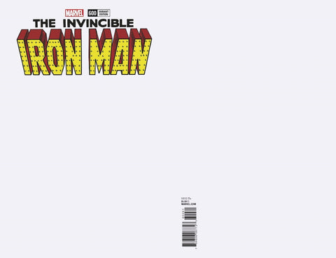 INVINCIBLE IRON MAN #600 BLANK VAR LEG