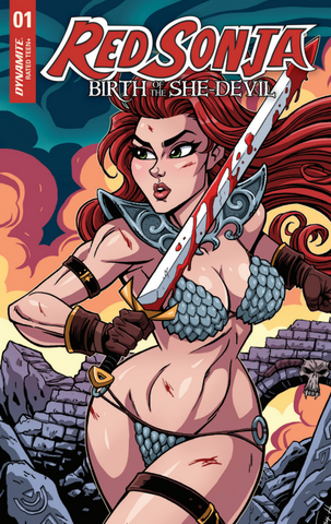 RED SONJA BIRTH OF SHE DEVIL #1 JOSH HOWARD COMICXPOSURE EXCLUSIVE