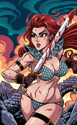 RED SONJA BIRTH OF SHE DEVIL #1 JOSH HOWARD COMICXPOSURE VIRGIN EXCLUSIVE