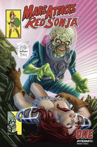 MARS ATTACKS RED SONJA #1 RON LEARY HOMAGE EXCLUSIVE
