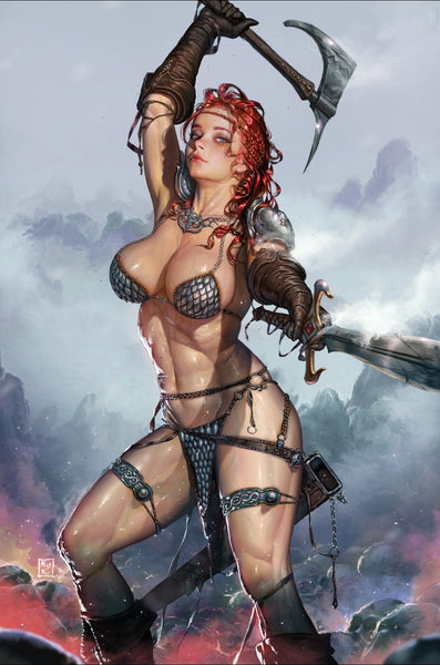 RED SONJA VALENTINES SP ONE SHOT KYUYONG EOM VIRGIN EXCLUSIVE