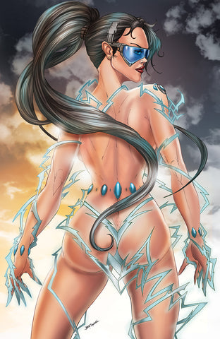 WHITE WIDOW #2 JAMIE TYNDALL NAUGHTY COMICXPOSURE EXCLUSIVE