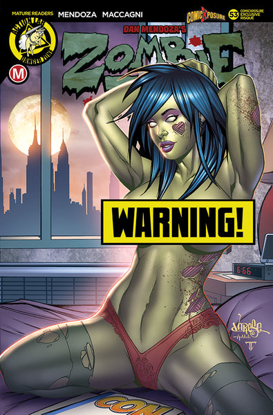 ZOMBIE TRAMP ONGOING #53 COMICXPOSURE JOSE VARESE RISQUE EXCLUSIVE