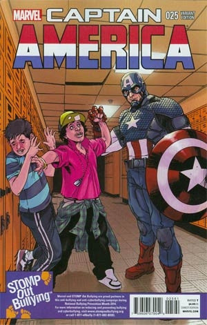 Captain America Vol 7 #25 Incentive Stomp Out Bullying Variant