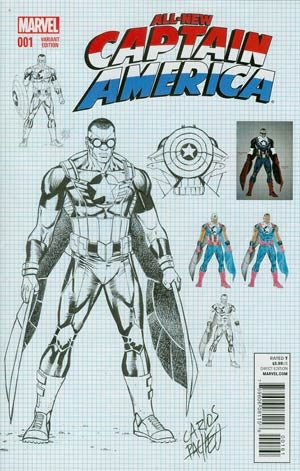 All-New Captain America #1 Incentive Carlos Pacheco Variant Cvr