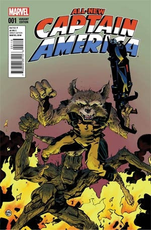 All-New Captain America #1 Variant Rocket Raccoon & Groot Cover