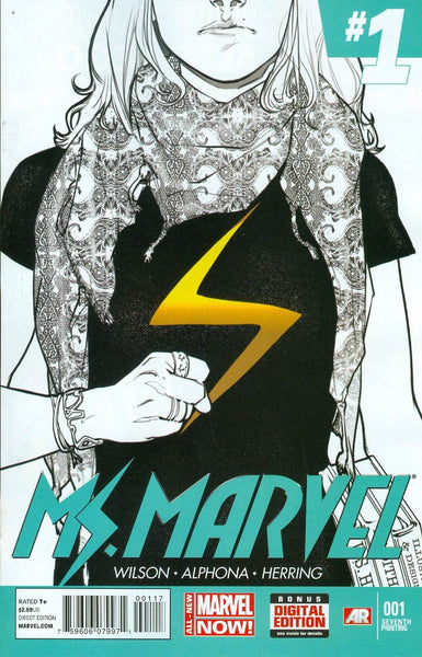 Ms Marvel Vol 3 #1 Cover J Seventh Printing