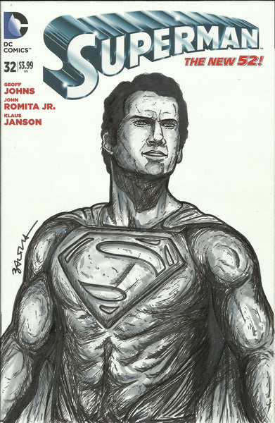 Superman # 32 Original Sketch Cover By Nicholas Baltra