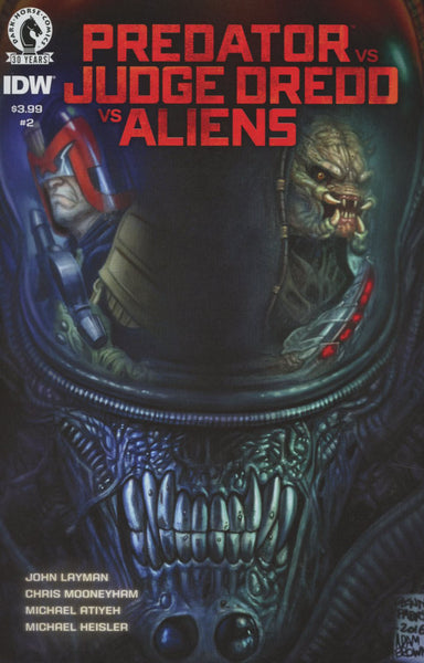 PREDATOR VS JUDGE DREDD VS ALIENS #2 COVER A 1st PRINT