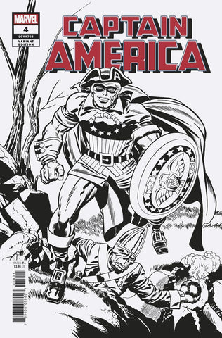 CAPTAIN AMERICA #4 KIRBY REMASTERED B&W VAR