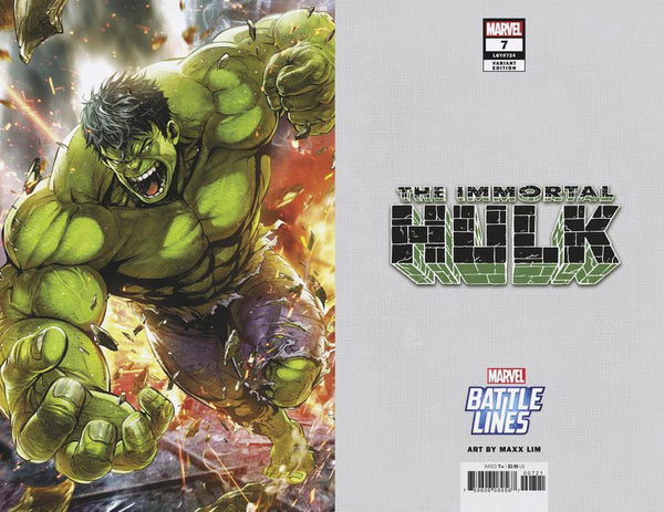 IMMORTAL HULK #7 MAXX LIM MARVEL BATTLE LINES VAR