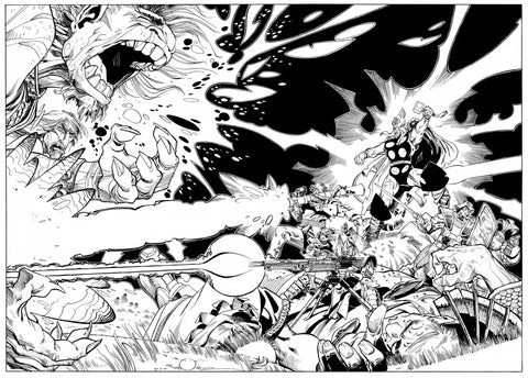 WAR OF REALMS #1 (OF 6) SIMONSON HIDDEN GEM B&W VAR