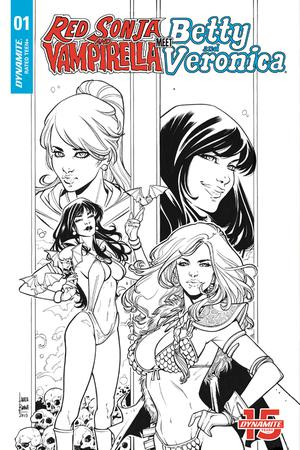 RED SONJA VAMPIRELLA BETTY VERONICA #1 BRAGA B&W INC