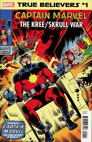TRUE BELIEVERS CAPTAIN MARVEL KREE SKRULL WAR #1