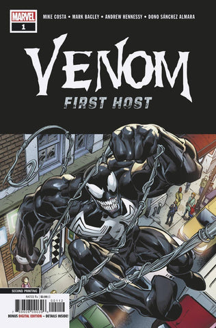 VENOM FIRST HOST #1 (OF 5) 2ND PTG BAGLEY VAR