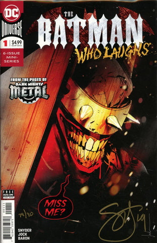 BATMAN WHO LAUGHS #1 DF ELITE GOLD SGN SNYDER