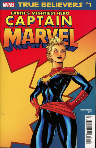 TRUE BELIEVERS CAPTAIN MARVEL EARTHS MIGHTIEST HERO #1