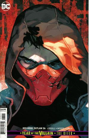 RED HOOD OUTLAW #36 CARD STOCK VAR ED YOTD THE OFFER