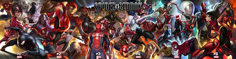 SPIDER-GEDDON  IN HYUK LEE CONNECTING COVERS 6 PACK