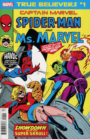 TRUE BELIEVERS CAPTAIN MARVEL SPIDER-MAN & MS MARVEL #1