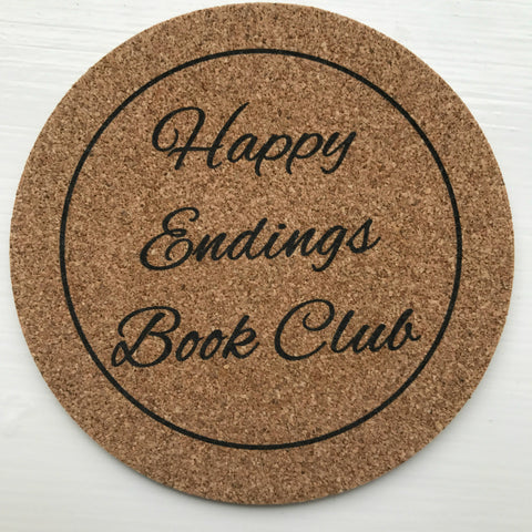 Happy Endings Book Club Coaster