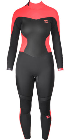 BILLABONG LADIES SYNERGY 5/4MM BACK ZIP WETSUIT
