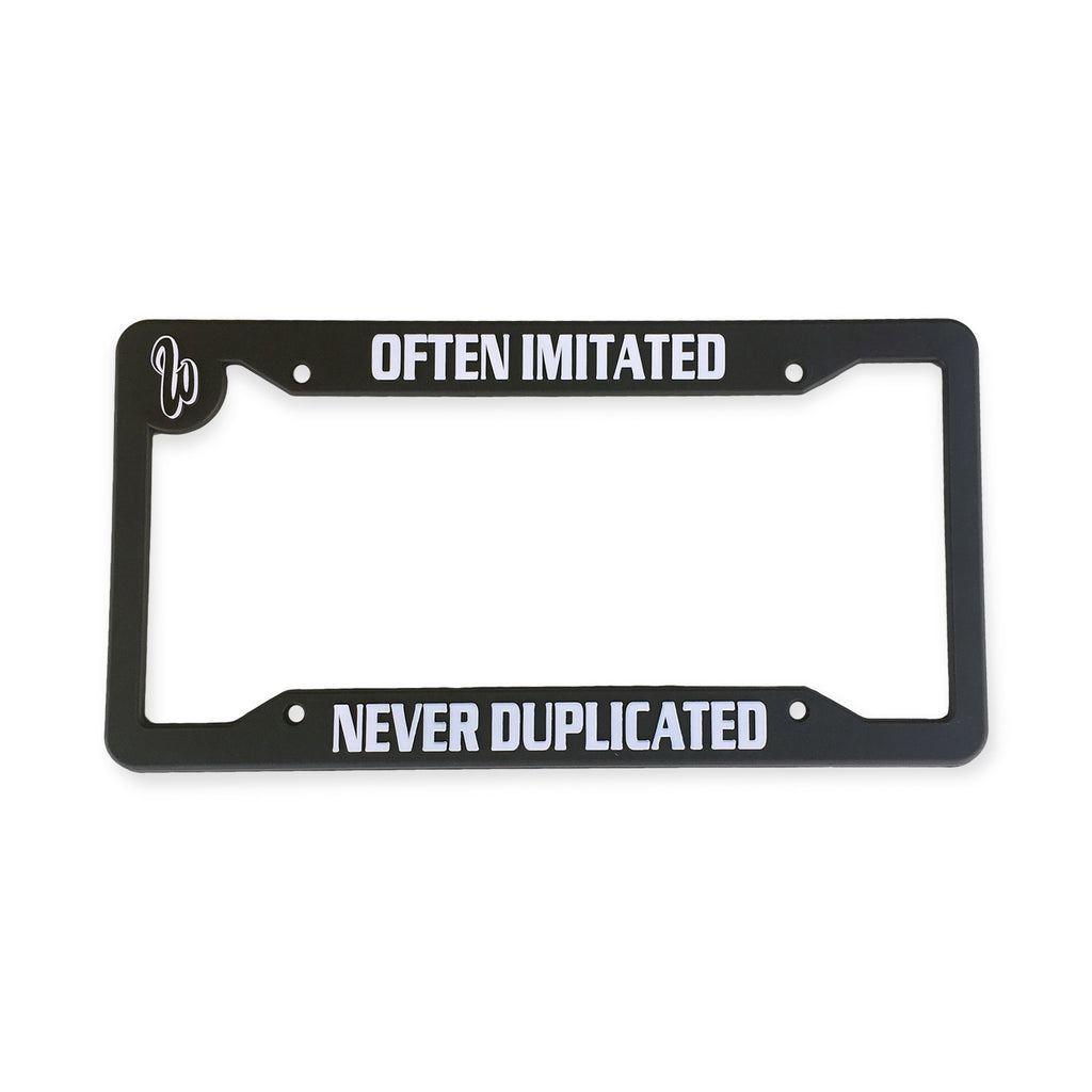Never Duplicated License Plate Frame with Insert