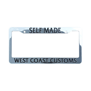 Self-Made License Plate Frame