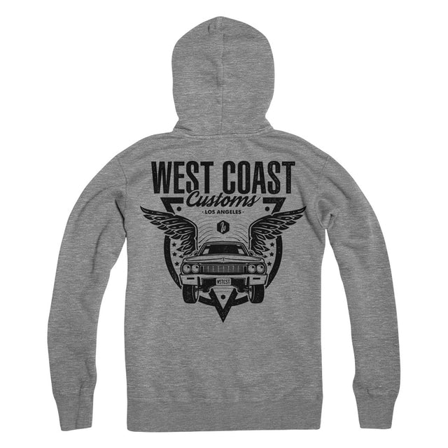 Wings Zip Up Hoodie