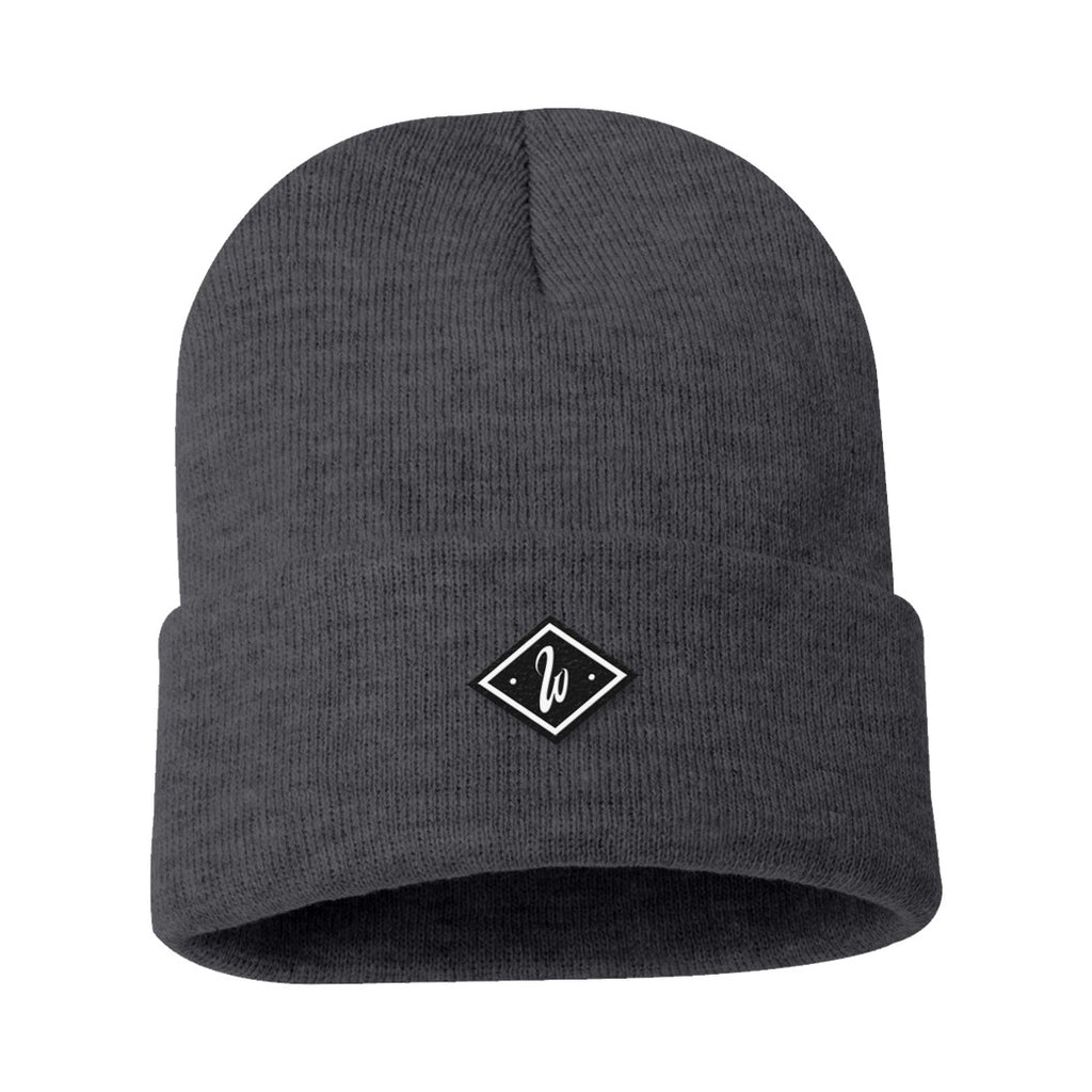 Charcoal Diamond Beanie