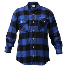 Heavy Weight Blue Logo Flannel