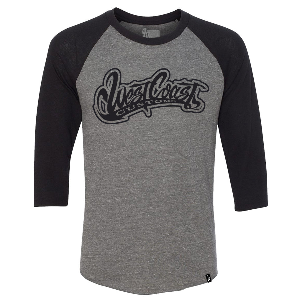 Logo Grey and Black Raglan