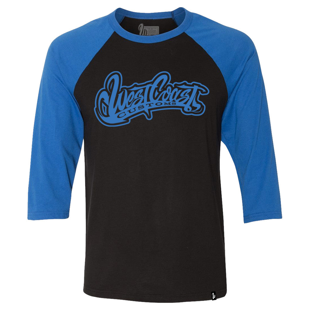 Logo Blue and Black Raglan