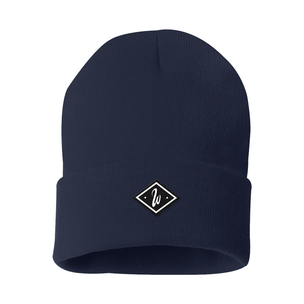 Diamond Navy Beanie