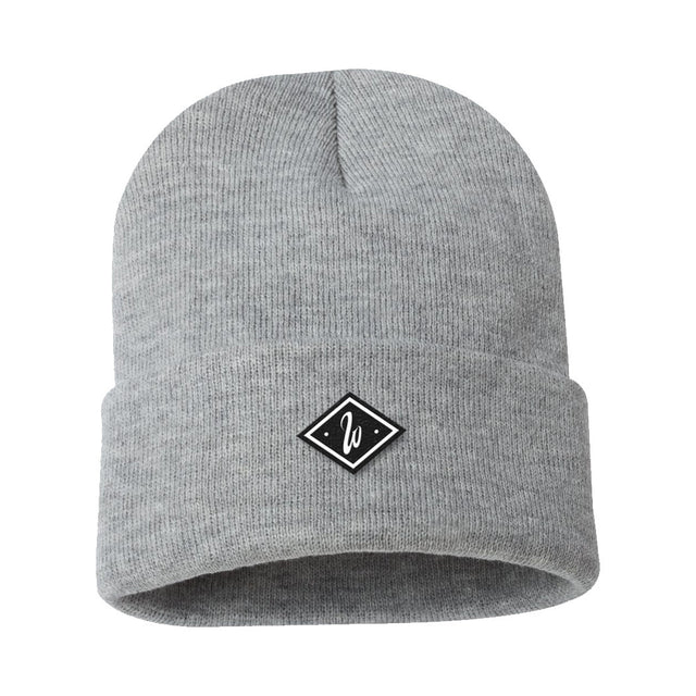 Diamond Heather Grey Beanie