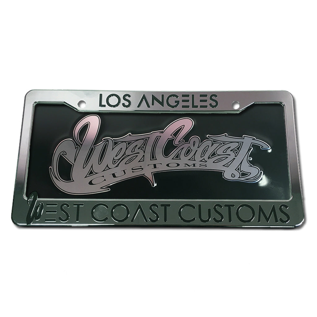 Chrome License Plate Frame with Insert