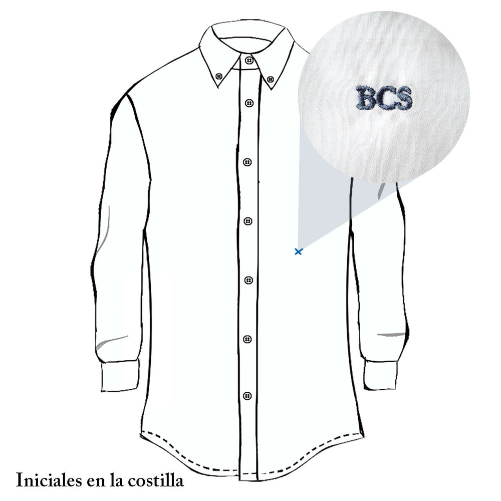 Camisa casual blanca slim fit