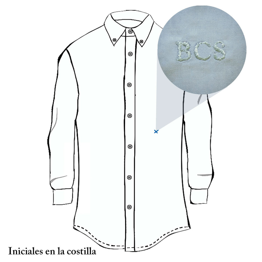 Camisa con mini estampado de palmeras slim fit