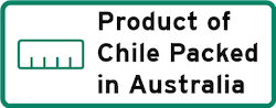 Product of Chile Packed in Australia Logo
