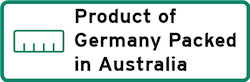 Product of Germany packed in Australia