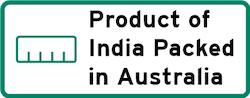 Product of India packed in Australia