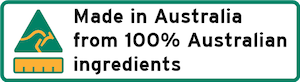 Made in Australia With 100% Australian Ingredients