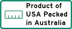 Product of Usa Packed in Australia Logo
