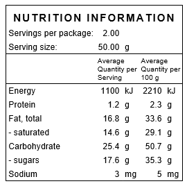 Banana Chips Nutritional Information