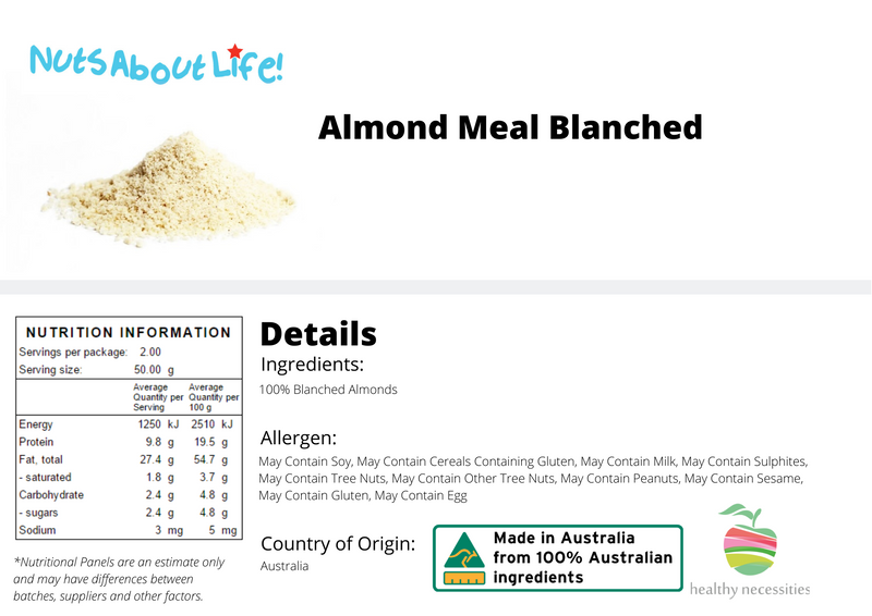 Almond Meal Blanched (Almond Flour) $12/kg SPECIAL
